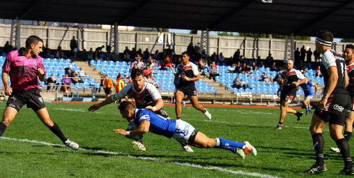 Newtown Jets five-eighth Arana Taumata crosses for a try in Newtown's miraculous