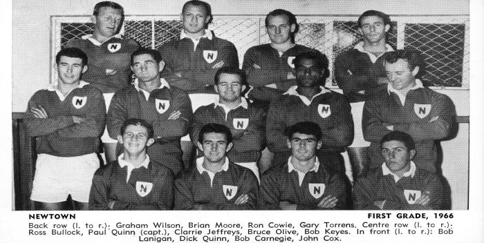 Paul Quinn was the Newtown first grade team captain in the 1966 season and is pictured second from the left in the middle row of this photo.