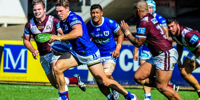 Stylish winger Jacob Gagan was in top form for the Newtown Jets against Manly-Warringah at Brookvale Oval last Saturday. Photo: Gary Sutherland Photography.