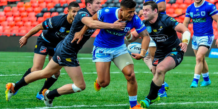 Newtown Jets halfback Fa'amanu Brown looks to break through the Mounties defence in last Saturday's ISP NSW qualifying final at Pepper Stadium, Penrith. Photo: Gary Sutherland Photography