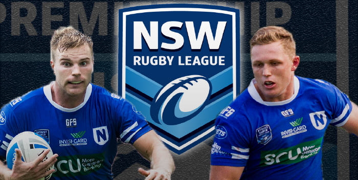Newtown Jets centre Jordan Drew and backrower Jack Williams have won selection in the 2017 Intrust Super Premiership NSW Residents representative team.  Image: MAF Photography
