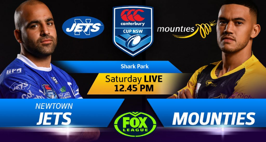 Newtown's Canterbury Cup NSW clash with Mounties is being televised live on Fox Sports. Photo: NSWRL Media