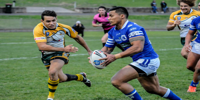 Newtown's newly-signed centre Junior Vaivai shows great poise and style at Henson Park last Saturday.