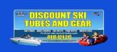 web Discount Ski Tubes Car Sticker Logo