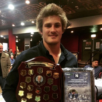 "Blake Ayshford takes out the inaugural Brian ""Chicka"" Moore Shield, in being named as the recipient of the 2015 Newtown Jets VB NSW Cup Best and Fairest award."