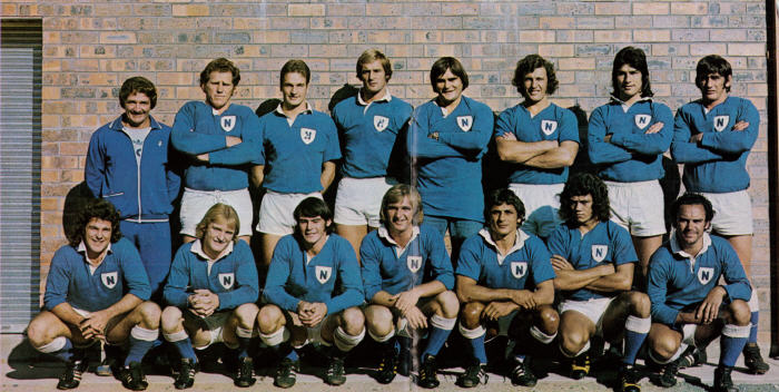 Doug Kemister (front row, far right) pictured here with the Jets from 1975