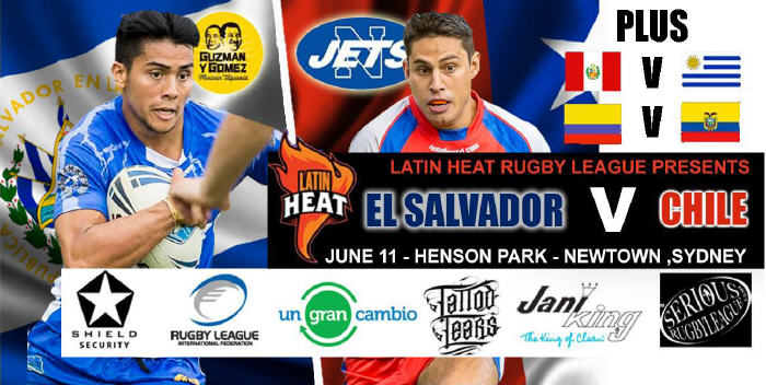 Chile take on El Salvador in an historic encounter at Henson Park on Saturday June 11th, 2016. Images: Sergio Montenegro
