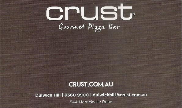 web Crust Pizza Dulwich Hill 2017