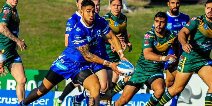 Jets coach Greg Matterson rated Jesse Sene-Lefao best on-field in Newtown's win over Wyong. Photo: Gary Sutherland Photography