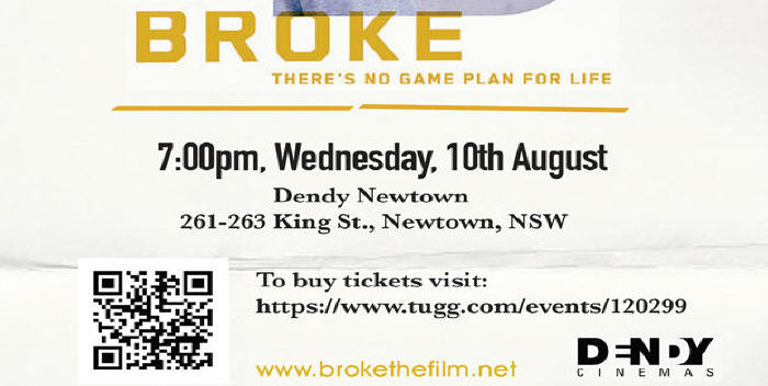 Join the Newtown Jets on Wednesday August 10 at Dendy Newtown to support this great Aussie film.