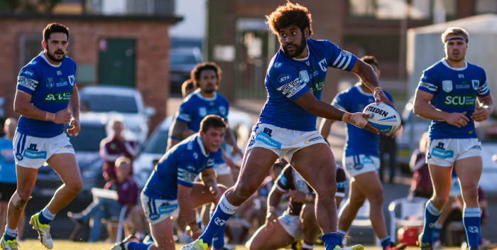 Newtown Jets and Fijian international front-rower Junior Roqica played a huge role in the Jets' sensational come from behind 40-38 win against Manly-Warringah at Henson Park last Saturday. Photo: Mario Facchini Photography