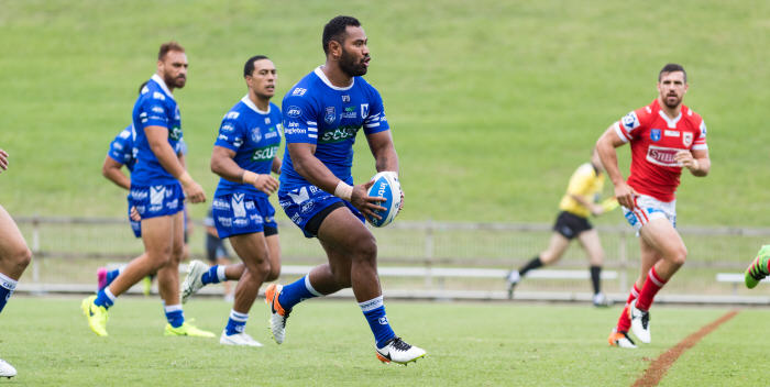 Tony Williams was named in the ISP NSW team of the week for the second time in three weeks after a powerhouse first half display for the Jets against Illawarra. Photo: MAF Photography