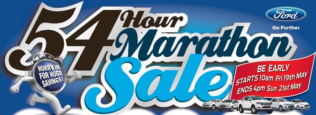 City Ford Rockdale 54 Hour Marathon Sales Event
