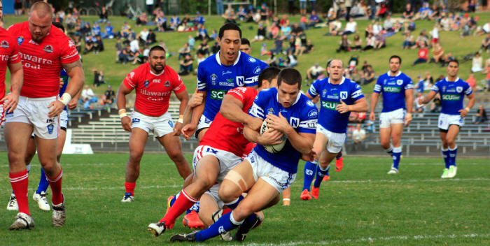 The last time Daniel Mortimer (pictured scoring) played for Newtown against Illawarra at Henson Park back in May 2014 he helped steer the Jets to a comprehensive 44-22 victory. Photo: MAF Photography