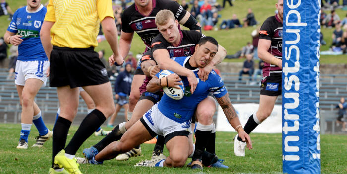 Kurt Kara scores for the Newtown Jets against the Blacktown Workers Sea Eagles at Henson Park on the 17th June. There's no doubt that Kurt Kara is made of the same stuff as the best of the greats from Newtown's past over the last 109 years. Photo: Michael Magee Photography