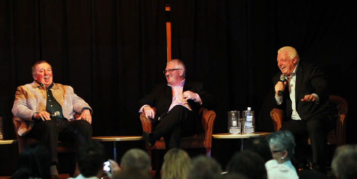 The redoubtable trio of Warren Ryan, Ken Wilson and Phil Gould set a high standard of rugby league academic excellence when they appeared in the initial University of Rugby League function. Photo: Newtown RLFC