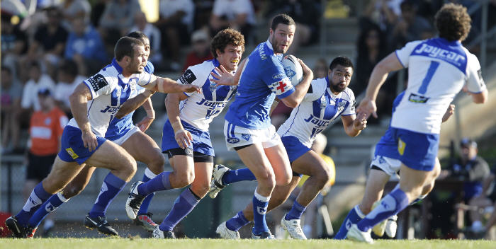Boyd Cordner playing for Newtown against Canterbury-Bankstown in 2011. He looked like a future Australian representative player when he first played in Newtown's SG Ball team in 2009. Photo: Mike Biboudis.