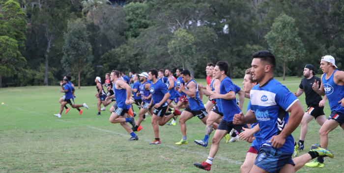 It's a long way to the top if you want to be … a Newtown Jet. The Newtown Jets go through their paces in a tough December pre-season training session at Mahoney Reserve, South Marrickville.  Photo: Wayne Leong.