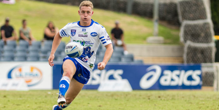 Former Cronulla Sharks under 20's five-eighth and halfback Jack Williams was on debut yesterday for the Newtown Jets. Photo: MAF Photography (Mario Facchini)