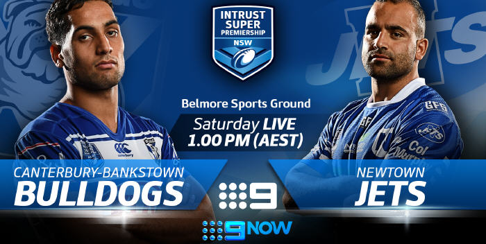 The Canterbury-Bankstown Bulldogs are at home to the Newtown Jets this Saturday, 21st April, and it's live on Channel Nine from 1.00pm. Photo: Courtesy of the NSWRL