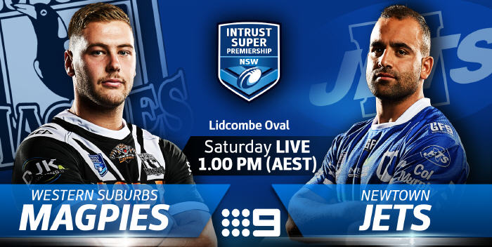 The Jets & Magpies light up the big screen on Channel 9 Saturday 26th May from 1pm. Image: NSWRL