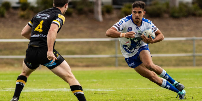 Newtown Jets fullback Will Kennedy (pictured) scored two tries against Mounties on Saturday. His second try on Saturday could well be a contender for the award of best individual try scored in the ISP NSW competition in 2018. Photo: Mario Facchini (MAF Photography)