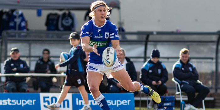 Newtown Jets halfback Jesse Marschke played very effectively against the Newcastle Knights on Saturday, and has been rewarded by being selected in the Intrust Super Premiership Round 17 Team of the Week. Photo: Mario Facchini, mafphotography