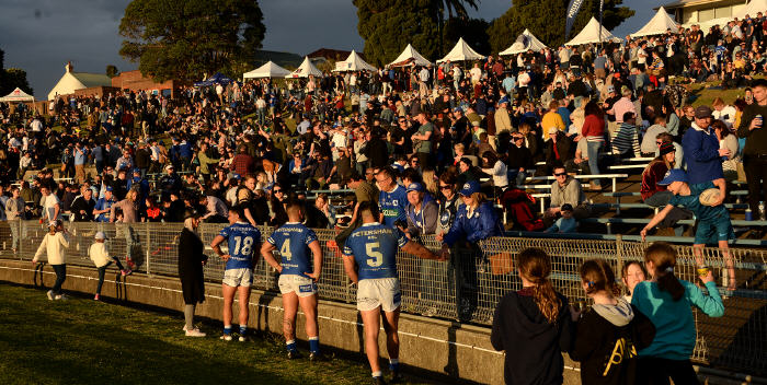 After-match scenes at Henson Park after another highly successful Beer, Footy & Food Festival held on the 28th July 2018. Photo: Mike Magee Photography