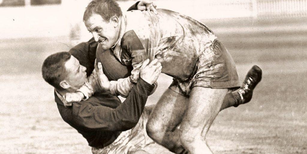 John Raper and Ron Hansen at the SCG in 1962.