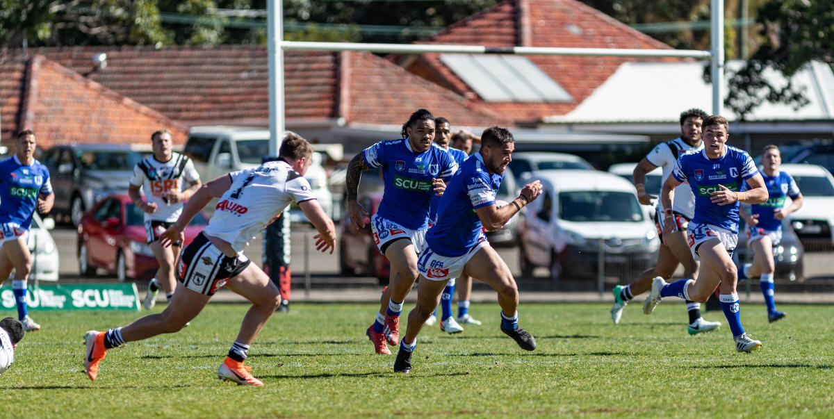 Newtown Jets fullback Will Kennedy cuts through the Western Suburbs defence at Henson Park last Saturday. Photo: Mario Facchini, mafphotography