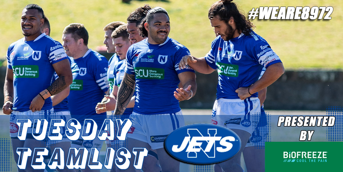Newtown Jets Team List V South Sydney Rabbitohs Sun 15th March 2020 Newtown Jets
