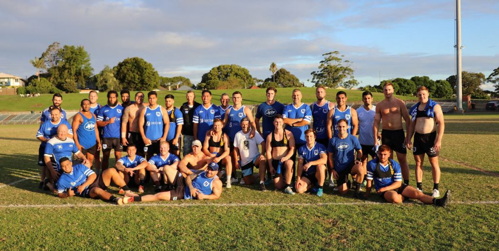 The last hurrah? Newtown Jets players and coaching staff pictured at the end of their final training session for 2020. Image: Wayne Leong
