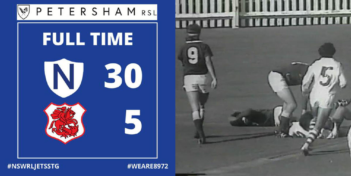 Full Time on the Petersham RSL scoreboard... Newtown made it 6 wins from 7 starts with a convincing victory over the Red V at the SCG on May 11, 1974