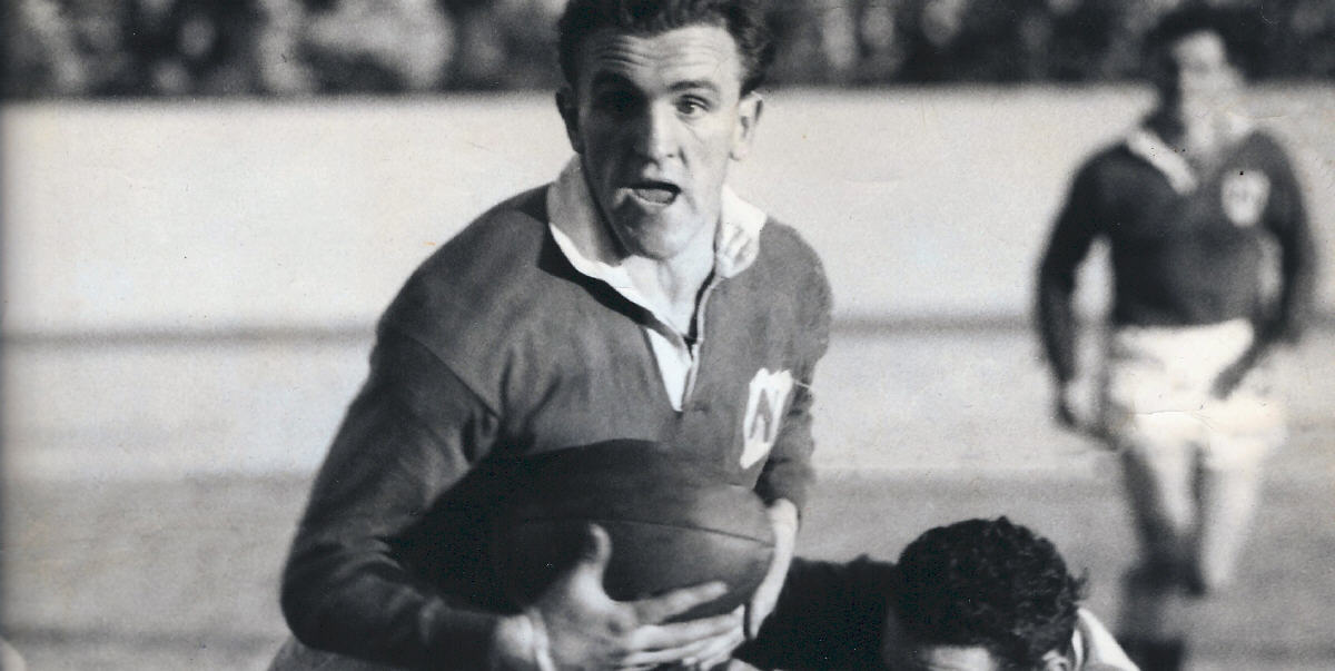 Champion Newtown rugby league centre Dick Poole in action for the Bluebags against South Sydney. Photo: Newtown RLFC