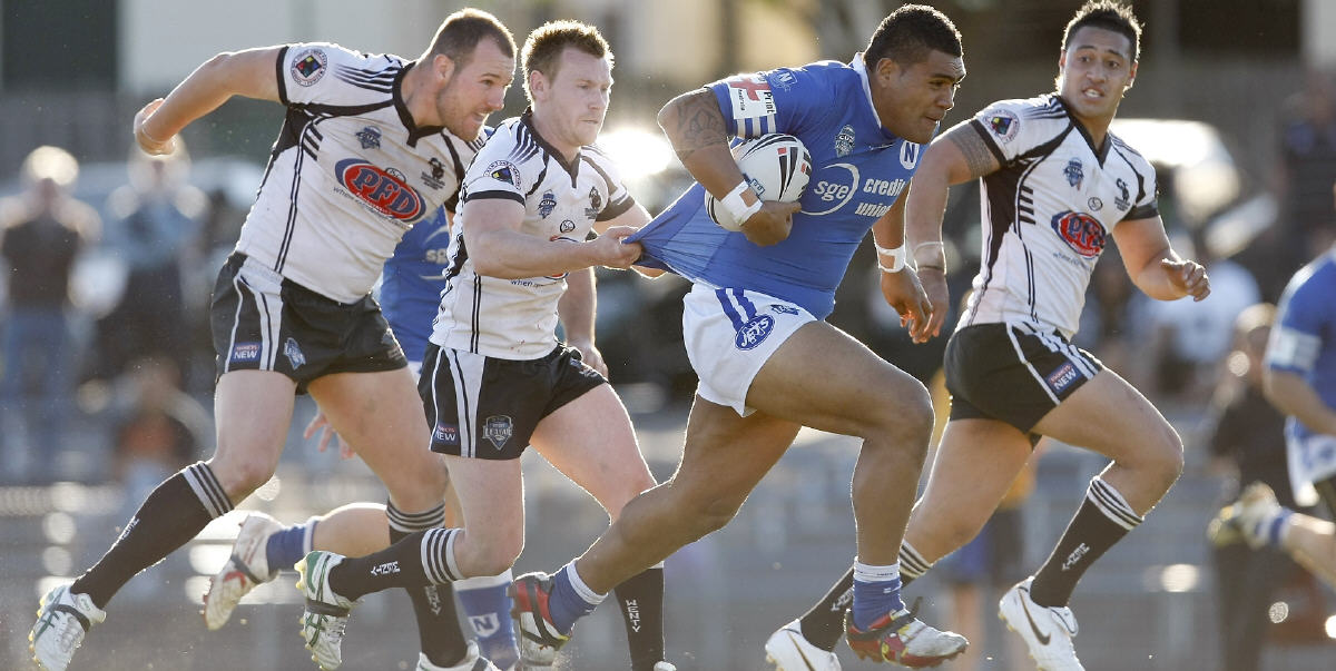 Newtown Jets front-rower Mose Masoe pictured in full cry against Wentworthville back in 2010. Photo: Mike Biboudis Photography