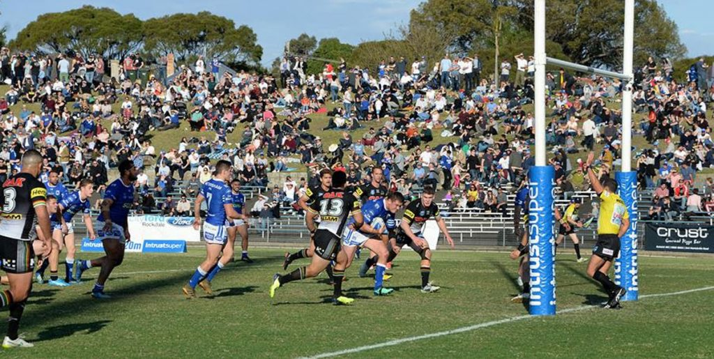 Hard-working forward Kurt Dillon (pictured in possession above) is back with the Newtown Jets, after having gained NRL playing experience with both the Cronulla Sharks and South Sydney. Photo: Michael Magee Photography