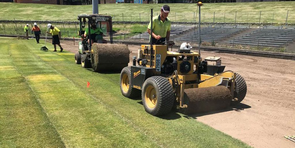 The re-turfing of the Henson Park playing surface has now been completed. Photo: Inner West Council.