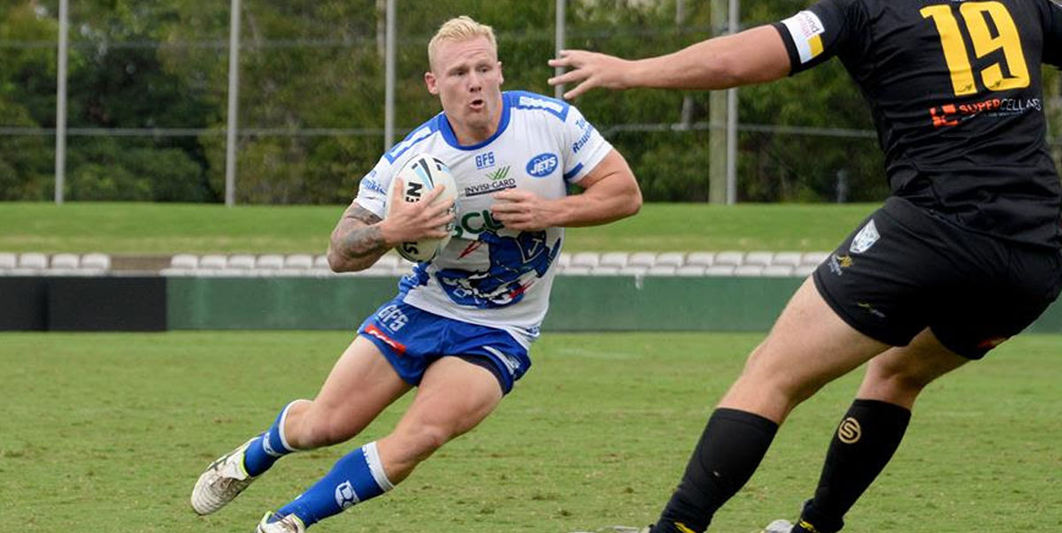 Newtown Jets backrower Gabe Hamlin has impressed during the three trial matches played this year. Photo: Michael Magee Photography.