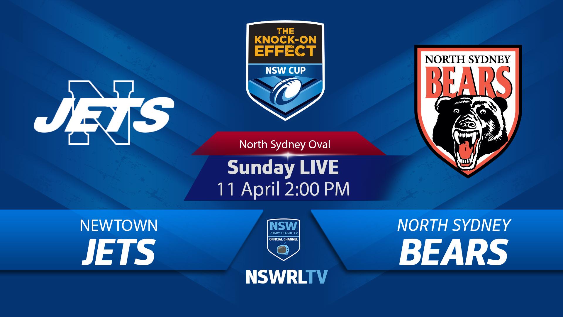 NSWRL tile for the North Sydney v Newtown match, 11th April 2021 (NSWRL)