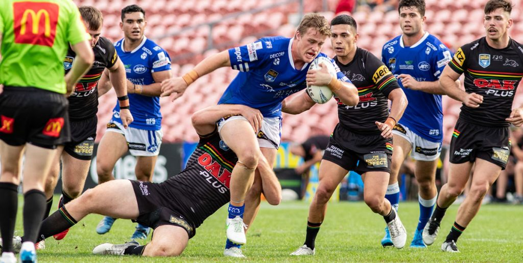 Young front-rower Jesse Colquhoun (from the Cronulla Sharks Jersey Flegg team) made his debut with the Newtown Jets against Penrith last Saturday.     Photo: Mario Facchini, mafphotography