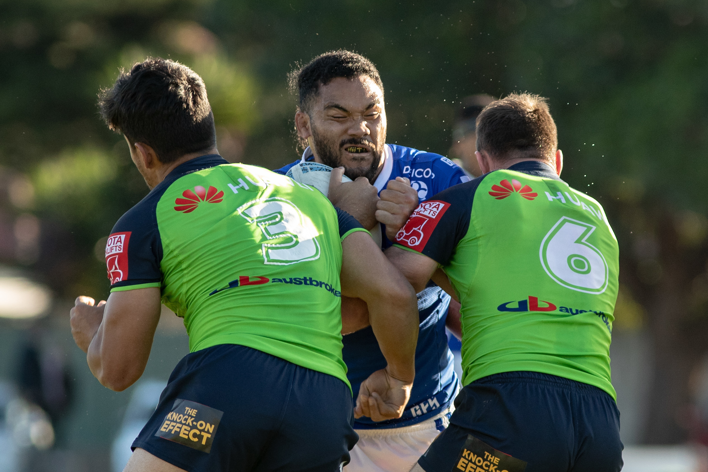 June 5, 2021 - Marrickville, NSW, Australia, Siosifa Talakai of the Newtown Jets during the Round 13 NSW Cup match between the Newtown Jets and Canberra Raiders Henson Park in Marrickville, NSW. (Mario Facchini/mafphotography)